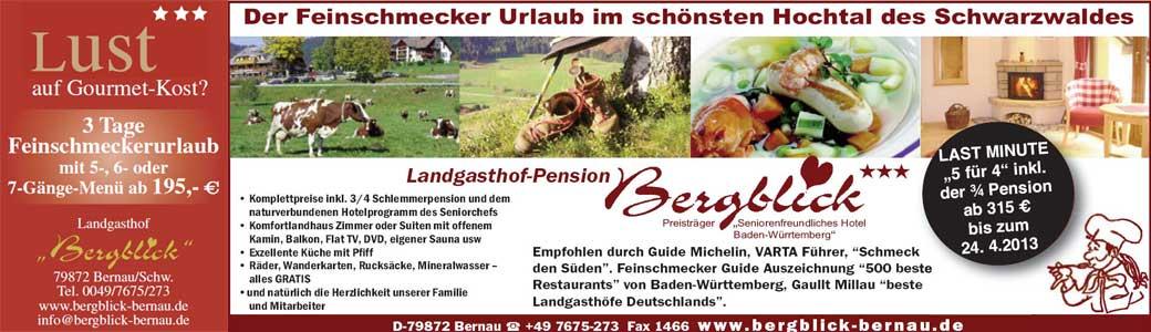 Feinschmecker Urlaub im Schwarzwald
