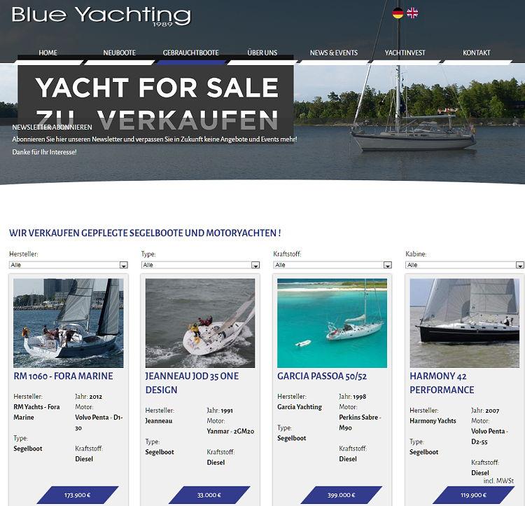 Yacht For Sale - Motoryachten und  Segelboote zu verkaufen