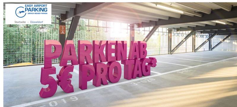 Günstig parken mit dem Auto am flughafen in Düsseldorf