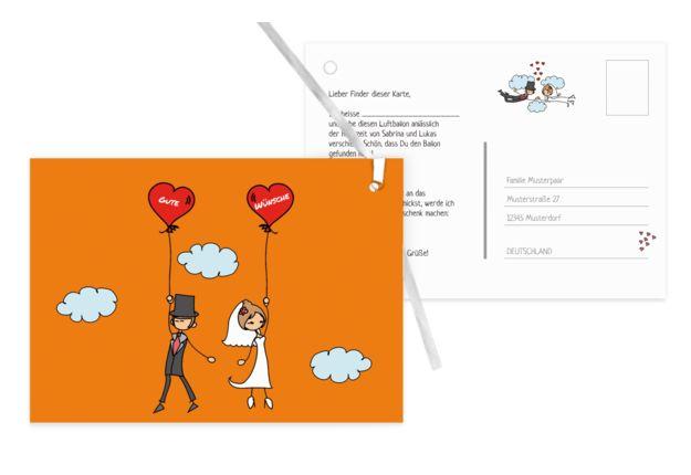 Tolle Hochzeitskarten finden Sie auf karten-paradies.de