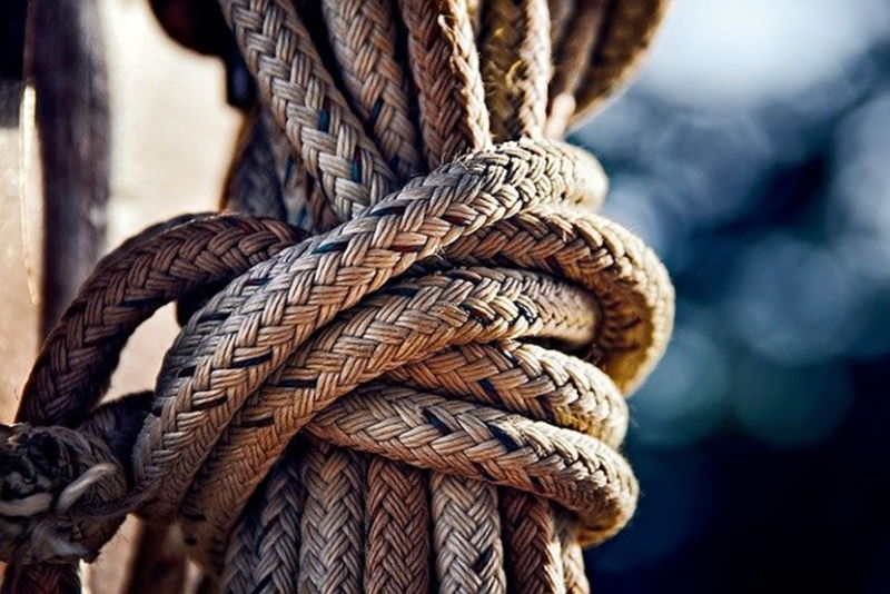 Segelboot - Knoten