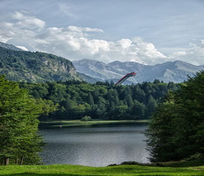 Allgäu, Oberstdorf, Ski Jump, Mountains, Forest, Trees