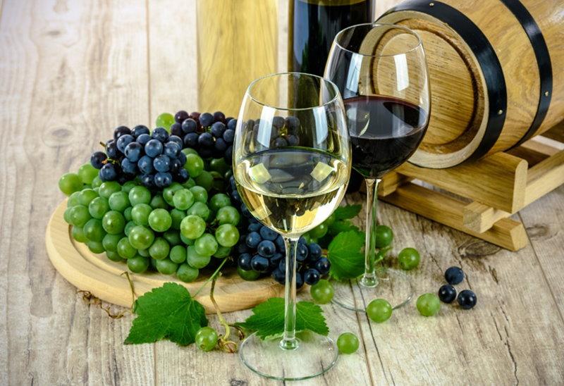 Weintrauben, Rotwein, Weißwein
