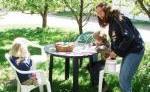 Ökoferienhof Retzbach GbR - Im Garten